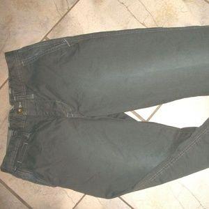 American Eagle Military Green Cotton Pants Slacks